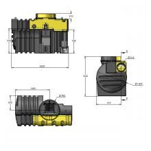 Olie - en benzine afscheider met bypass PSDC 10 DN315 BYPASS